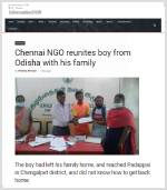 Odisha boy reunited with family